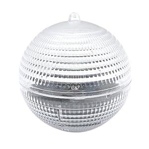 Gangnam Shop Stylish Solar Powered Waterproof LED Floating Globe Light -Red light