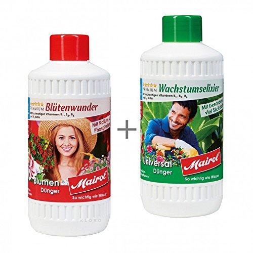 MAIROL Universal-Dünger + Blumen-Dünger Liquid je 500 ml 42050 + 44050