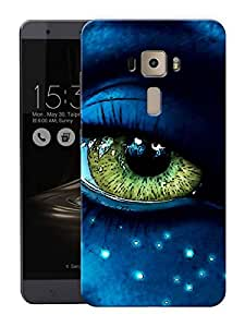 """Green Big EyesPrinted Designer Mobile Back Cover For """"Asus Zenfone 3 Deluxe"""" (3D, Matte, Premium Quality Snap On Case)"""