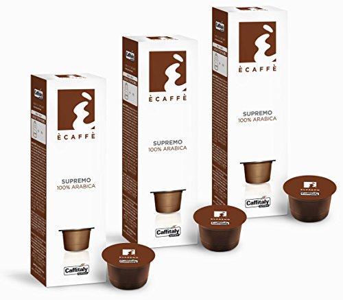 Get 30 Ècaffè Capsules 100% Arabica SUPREMO by Caffitaly System