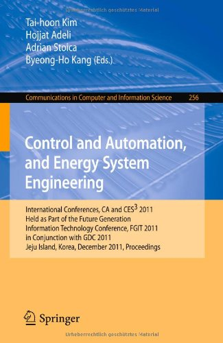 Control and Automation, and Energy System Engineering: International Conferences, CA and CES3 2011, Held as Part of the