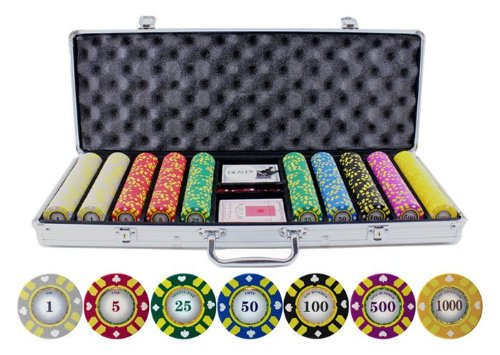 Lowest Prices! 500pc 13.5g Stripe Suited V2 Poker Chips Set
