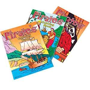 12 Mini Pirate Coloring Books