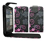 Gr8value VARIOUS DESIGN PU LEATHER MAGNETIC FLIP CASE COVER POUCH FOR SAMSUNG GALAXY S2 II i9100 + FREE STYLUS (grey & black pattern flip case)