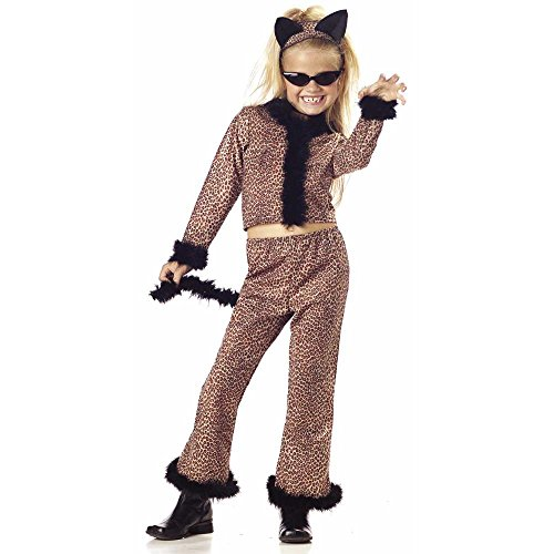 Kid's Leopard Suit Costume (Size:Small 6-8)