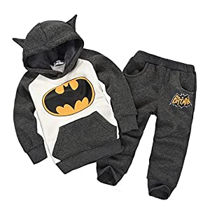Children Outfits Tracksuit Batman Clothing Children Hoodies+ Kids Pants Sport Suit Boys Clothing Set