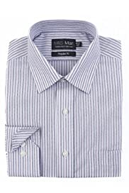 Cotton Rich Non-Iron Multi-Striped Shirt [T11-6625-S]