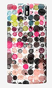 The Fappy Store Paint Designer Printed Hard Back Case Cover for One Plus One