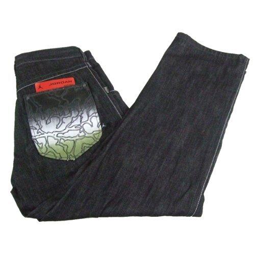 Nike Air Jordan Jump Herren Jeans W32 bis W40 - schwarz, 38W x 34L