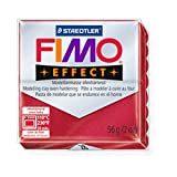 STAEDTLER FIMO Effect Metallic Ruby Red (28) FIMO Effect Polymer Modelling Moulding Clay Block Oven Bake Colour 56g (Pack Of 5)