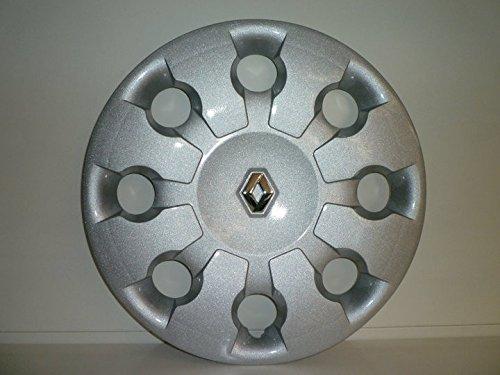 Set 4 Coppe Ruota Copricerchio Borchie Renault Modus (I serie) dal 2005 r 15 (logo Cromato)