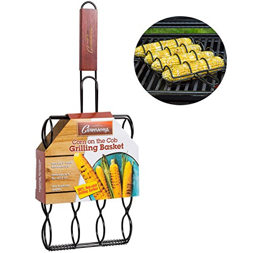 Corn Grilling Basket- 100% Non-Stick Corn Griller with Extra Long 9