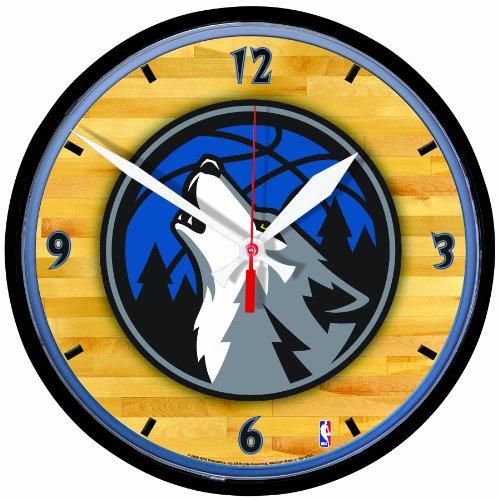 NBA Minnesota Timberwolves Round Clock