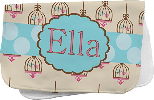 Kissing Birds Personalized Burp Pad front-690114