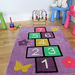 Children\'s Purple Fun Learning Number Hopscotch Play 2\'3\