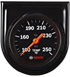 "Bosch SP0F000053 Style Line 2"" Mechanical Water/Oil Temperature Gauge (Black Dial Face, Black Bezel)"