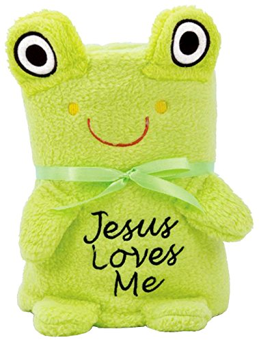 Brownlow Kitchen Baby Blankie with Jesus Loves Me, Frog