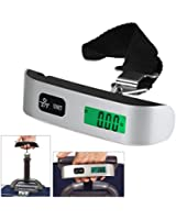 iMeshbean® 110 Lbs / 50KG Digital Luggage Scale with Temperature Sensor and Tare Function, Large LCD Display