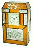 Oklahoma State Cowboys Stained Glass Clock