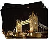 London Tower Bridge Print Picture Placemats in Gift Box
