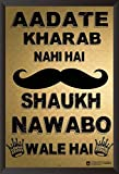 Hungover Nawabo Waale Shauk Special Paper Poster (14x22 inches)