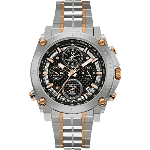 bulova-precisionist-chronograph-mens-quartz-watch-with-black-dial-and-silver-stainless-steel-bracele