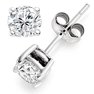 0.85 Carat F/IF Round Brilliant Certified Diamond Solitaire Stud Earrings in Platinum