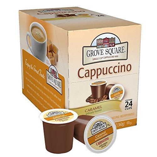 Grove Square Cappuccino, Caramel, 24 Single Serve Cups (Cappuccino Coffee Pods compare prices)