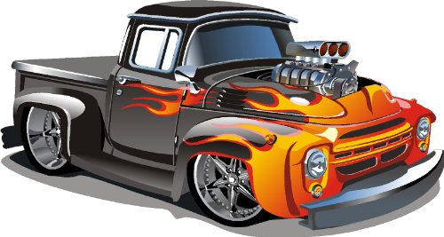 "Hot Rod Kids Removable / Repositional Wall Vinyl Sticker Peel And Stick Art (22""X41"") front-950889"
