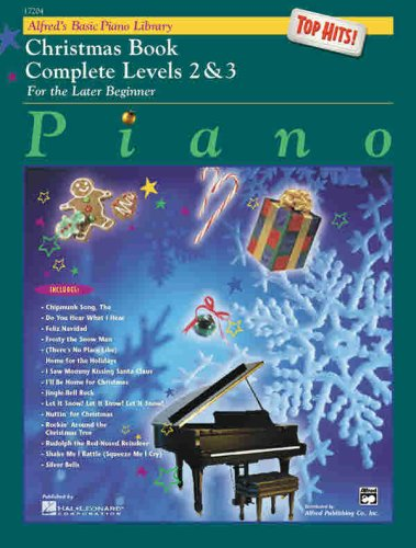 Alfred's Basic Piano Library: Christmas Book Complete Levels 2 & 3 (Top Hits! Christmas)