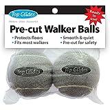 Top Glides Precut Walker Tennis Ball Glides - Gray - 1 Pair