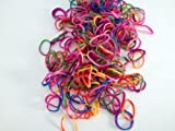 "Tie Dye Color Rubber Loom Rainbow Bands 600 Pieces with 24 ""S"" Clips"