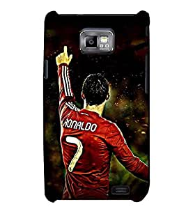 Printvisa Footballer In Aggression Back Case Cover for Samsung Galaxy S2::Samsung Galaxy S2 i9100