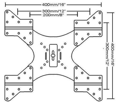 Imagen de VideoSecu adaptador VESA Plate LED LCD Plasma TV Wall Mount Bracket Extender MLEB 1UU