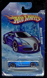 hot wheels 2010 160 blue bugatti veyron hot auction snow scene card 1 64 scale toys. Black Bedroom Furniture Sets. Home Design Ideas