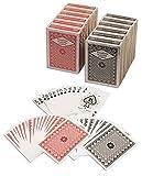 おもちゃ Diamond Playing Cards: 12 Decks (6 Red 6 Black) Poker Size Regular Index Plastic Coated Playing Cards by Da Vinci Made In Taiwan [並行輸入品]