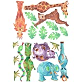 Animals stickers,kids stickers,nursery stickers,jungle wall stickersby tigerlilyprints