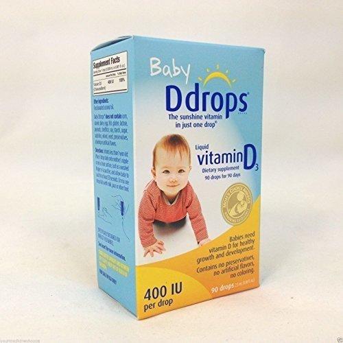 Ddrops Baby 400 IU, Vitamin D, 90 drops 2.5mL (0.08 fl.oz ...