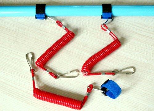 3x-Kayak-Accessories-Leash-Canoe-Boat-Fishing-Rodpaddle-Leash-Velcro