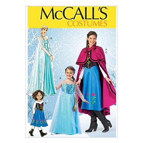 McCall Pattern Company M7000 Misses'/Children's/Girls' Costumes, Size KIDS ((3-4)-(5-6)-(7-8)-(10-12)-(14)) (Anna Sewing compare prices)