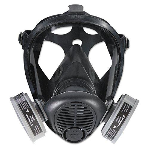 North Respiratory Protection 762000 S-Series Survivair Opti-Fit APR Full Facepiece Respirators, Medium, 5-Pt Strap