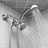 Home Basics Shower Head and Massager Set