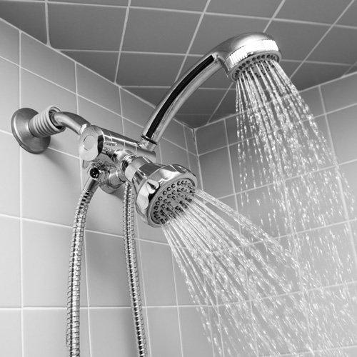Home Basics Shower Head and Massager Set health basics