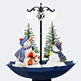 """More Designs! Indoor Snowing Snowman Christmas Tree Tabletop Lamp 30"""", Festive Decoration with Snowfall & Musical LED Lights by OYE HOYE"""