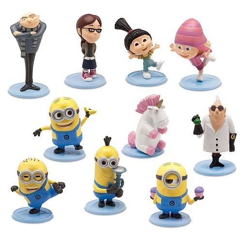Despicable-Me-2-PVC-2-Inch-Mini-Figure-10-Piece-Set-Gru-DrNefario-Margo-Edith-Agnes-Unicorn-Tim-Dave-Tom-Stuart-by-MISSING