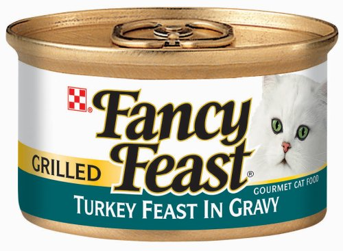 Fancy Feast Gourmet Cat Food, Grilled Turkey Feast in Gravy, 3-Ounce Cans (Pack of 24)