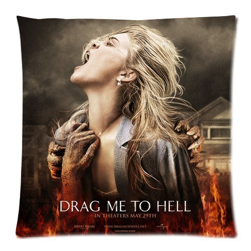 Drag Me To Hell New Square Soft Pillow Case Square Soft Pillow Custom Cotton &Polyster 18X18(Two Sides) CFT-47