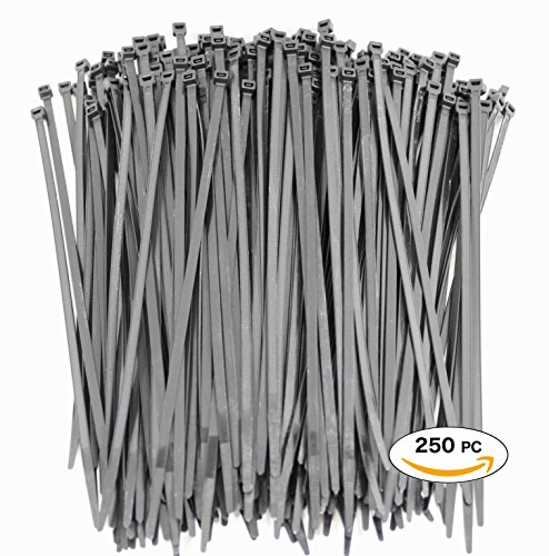 Premium Heavy Duty 10 Inch Zip Ties | Black Nylon Cable Ties 250 Piece | XGS 10 Wire Ties by APTronix (Heat Resistant Cable Ties compare prices)