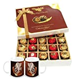 Chocholik Luxury Chocolates - 20pc Unique Combination Of Wrapped Chocolate Box With Diwali Special Coffee Mugs...