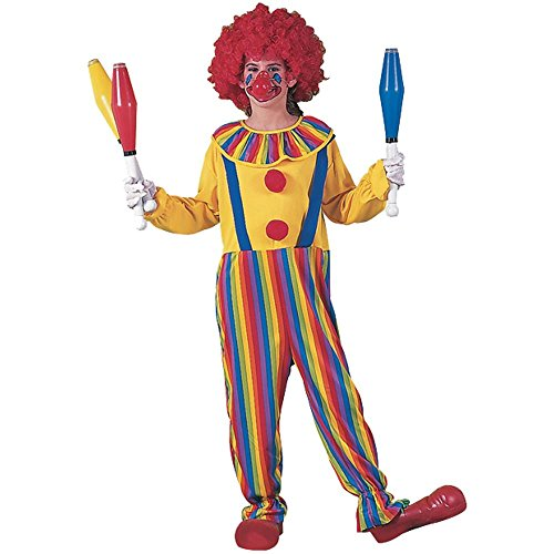 Child's Rainbow Clown Costume (Size: Small 4-6)